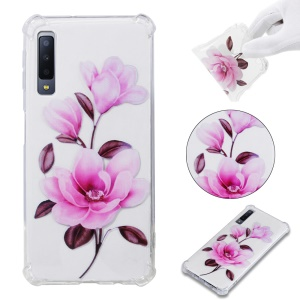 Patterned Soft TPU Shockproof Cell Phone Case for Samsung Galaxy A7 (2018) A750 - Vivid Flower