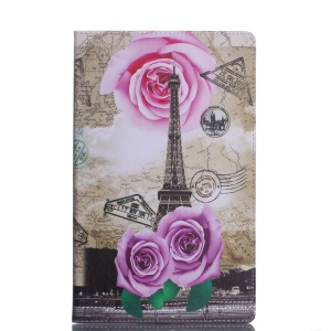 Pattern Printing Wallet Stand Leather Case for Samsung Galaxy Tab A 10.5 (2018) T590 T595 - Roses