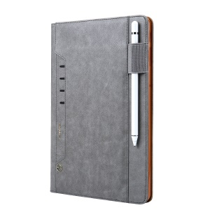 CMAI2 PU Leather Stand Wallet Flip Cover for Samsung Galaxy Tab S4 10.5 T830 T835 - Grey