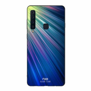 NXE Glass Cover for Samsung Galaxy A9 (2018) / A9 Star Pro / A9s Pattern Printing Hybrid Phone Case - Green / Blue