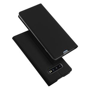 DUX DUCIS Skin Pro Series for Samsung Galaxy S10 Plus Leather Stand Case Shell - Black