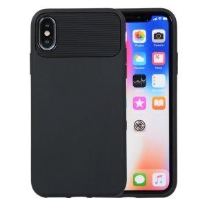 Armour Series Soft TPU Back Protection Case for iPhone XS / X - Black