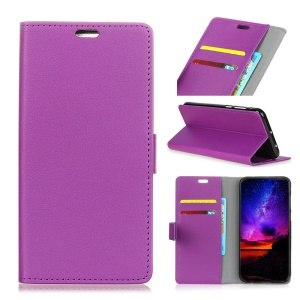 Flip Leather Wallet Stand Case for Samsung Galaxy S10 - Purple