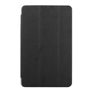 Toothpick Grain Tri-fold Leather Stand Case for Samsung Galaxy Tab E 9.6 T560 - Black