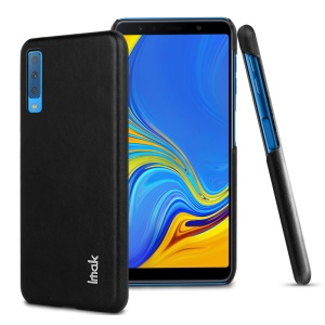 IMAK Ruiyi Series PU Leather Coated PC Cellphone Case for Samsung Galaxy A7 (2018) A750F - Black