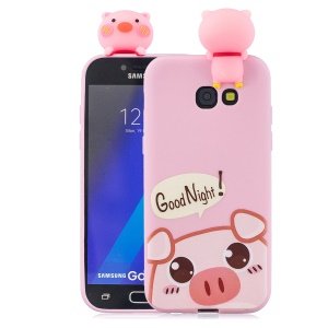 3D Cute Doll Pattern Printing TPU Case for Samsung Galaxy J4+ - Pig