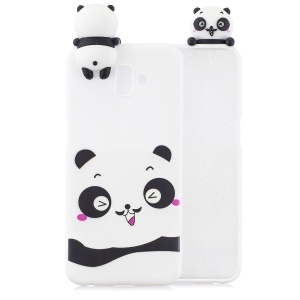 3D Cute Doll Pattern Printing TPU Case for Samsung Galaxy J6+ - Panda