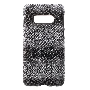 For Samsung Galaxy S10e Cell Phone Case PU Leather Coated Plastic Cellphone Cover - Snake Texture