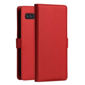 DZGOGO Milo Series Wallet Leather Stand Cover for Samsung Galaxy S10 Lite - Red