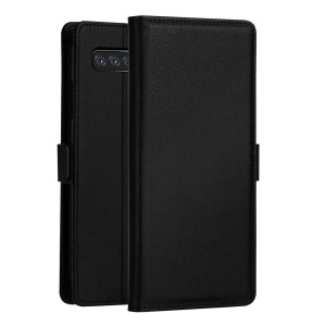 DZGOGO Milo Series Wallet Leather Stand Case for Samsung Galaxy S10 - Black