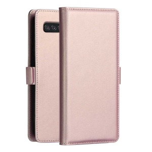 DZGOGO Milo Series Wallet Leather Stand Shell for Samsung Galaxy S10 - Rose Gold