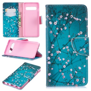 Pattern Printing PU Leather Protective Cover for Samsung Galaxy S10 - Wintersweet