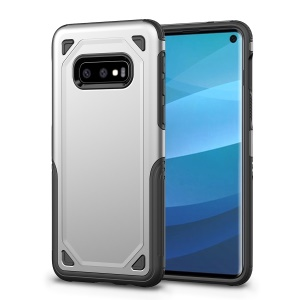 Hybrid PC + TPU Armor Rugged Case for Samsung Galaxy S10e - Silver