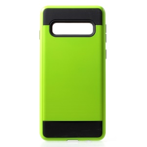 Brushed TPU + PC Combo Case Shell for Samsung Galaxy S10 - Green