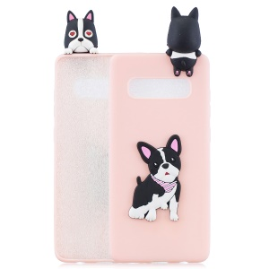 3D Pattern TPU Mobile Phone Shell for Samsung Galaxy S10 - Dog