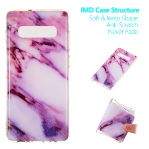 Marble Pattern IMD Soft TPU Back Case for Samsung Galaxy S10 Plus - Style A