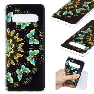 Pattern Printing TPU Back Casing for Samsung Galaxy S10 Plus - Colorized Butterfly