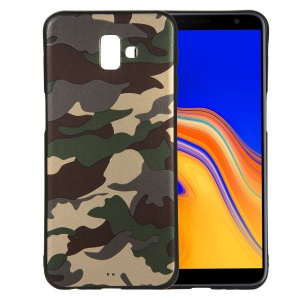 Camouflage Pattern TPU Mobile Cover for Samsung Galaxy J6 Plus - Green