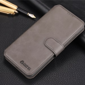 AZNS Wallet Leather Protection Case for Samsung Galaxy S10 - Grey