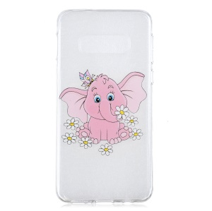 For Samsung Galaxy S10 Lite Pattern Printing IMD Soft TPU Case Cover - Pink Elephant
