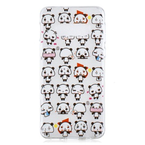 For Samsung Galaxy S10 Lite Pattern Printing IMD Soft TPU Back Case - Different Panda Expression