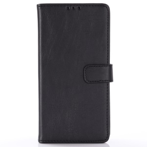 Crazy Horse Wallet Leather Stand Case for Samsung Galaxy S10 - Black