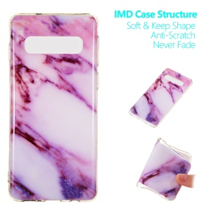 Marble Pattern IMD TPU Soft Back Case for Samsung Galaxy S10 - Style A