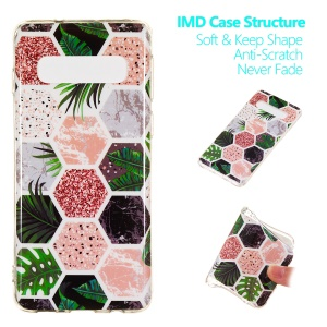 For Samsung Galaxy S10 [Marble Pattern] IMD TPU Phone Case - Style A