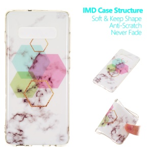 For Samsung Galaxy S10 Plus [Marble Pattern] IMD TPU Mobile Cover - Style H