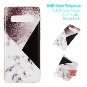 For Samsung Galaxy S10 Plus Marble Pattern Printing IMD TPU Phone Shell - Style D