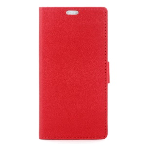 Leather Wallet Case Flip Cover for Samsung Galaxy J5 (2016) - Red