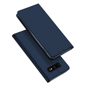 DUX DUCIS Skin Pro Series Stand Leather Flip Case for Samsung Galaxy S10 Lite - Blue