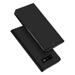 DUX DUCIS Skin Pro Series Stand Leather Flip Cover for Samsung Galaxy S10 Lite - Black