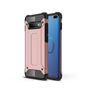 For Samsung Galaxy S10 Plus [Armor Guard] Plastic + TPU Cell Phone Case - Rose Gold
