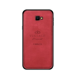 PINWUYO Honorable Series PC + TPU + Leather Hybrid Shell for Samsung Galaxy J4+ / J4 Prime / J4 Core - Red