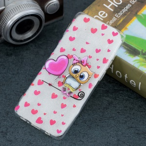 Pattern Printing Soft TPU Case for Samsung Galaxy S10 - Owl and Balloon