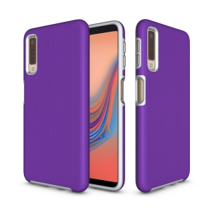 Anti-skid Plastic + TPU Combo Armor Casing for Samsung Galaxy A7 (2018) - Purple