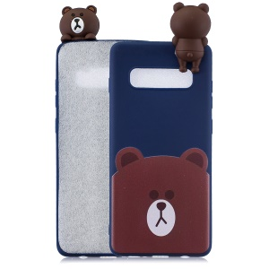 3D Cute Doll Pattern Printing TPU Protection Case for Samsung Galaxy S10 Plus - Bear