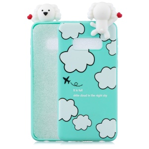 3D Cute Doll Pattern Printing TPU Case for Samsung Galaxy S10 Lite - Cloud Pattern