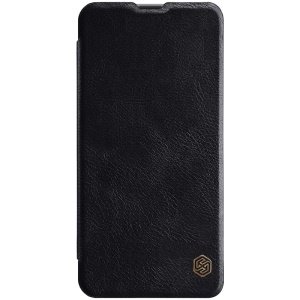 NILLKIN Qin Series Leather Card Holder Cover for Samsung Galaxy A8s - Black