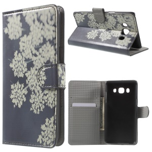 Patterned Leather Wallet Phone Cover for Samsung Galaxy J5 (2016) - Bunch of Flower