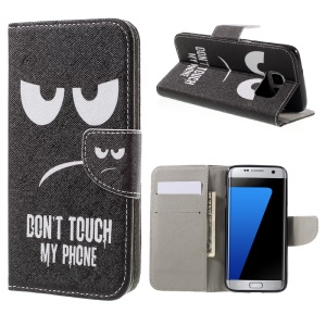 Wallet Leather Stand Case for Samsung Galaxy S7 edge G935 - Do not Touch My Phone