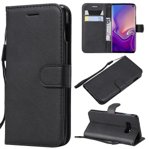 Wallet Leather Stand Case for Samsung Galaxy S10 Lite - Black