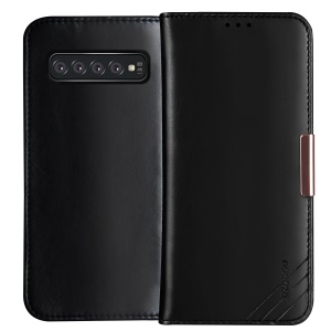 DZGOGO Royale Series II Genuine Leather Wallet Case for Samsung Galaxy S10 Plus - Black