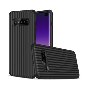 Suitcase Shaped Shock Resistant PC TPU Hybrid Phone Case for Samsung Galaxy S10 Plus - Black