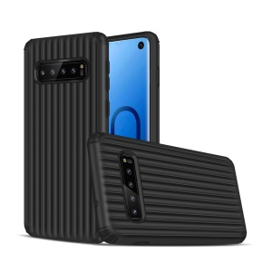 Suitcase Shaped Shock Resistant PC TPU Hybrid Phone Cover for Samsung Galaxy S10 - Black