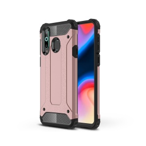 Armor Guard Plastic + TPU Hybrid Cell Phone Cover for Samsung Galaxy A8s - Rose Gold