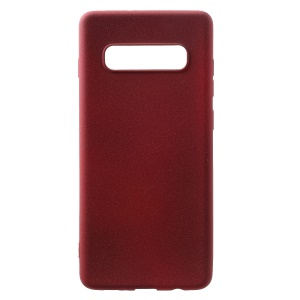 Skin-touch Matte TPU Protection Case for Samsung Galaxy S10 Plus - Wine Red