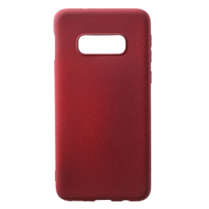 Skin-touch Matte TPU Phone Case for Samsung Galaxy S10 Lite - Wine Red