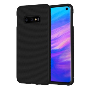 LENUO Twill Texture TPU Phone Case for Samsung Galaxy S10 Lite - Black
